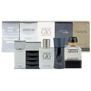 GIORGIO ARMANI 男性小香水禮盒5件組