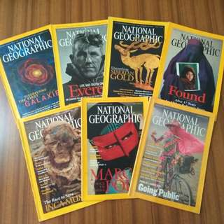 National Geographic Magazines 2001-2003