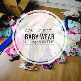 COMING SOON baby clothes