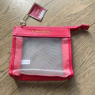 Crabtree & Evelyn red pouch