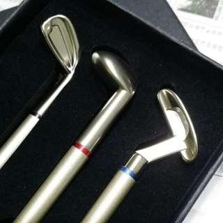Miniature Golf Club Ballpoint Pen Gift Set