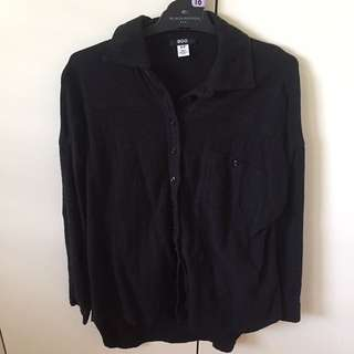 BDG black button up shirt