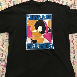 Kaos/T-shirt Stussy size L luar fit XL lokal
