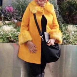Winter coat yellow jaket kuning musim dingin