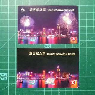 1997 九鐵/地鐵 遊客紀念票 連封套