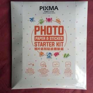 [CNY Clearance] Canon Pixma Photo Paper & Sticker Starter Kit