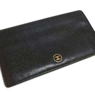 中古Chanel long Wallet CC Logo黑色款 非YSL Prada Dior Kate spade Celine