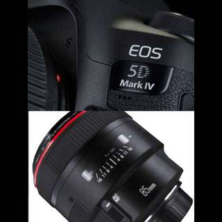 Canon Eos 5D Mk4 With 85MM F1.2L
