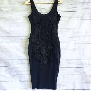 Bardot Black Mesh Dress Size 6