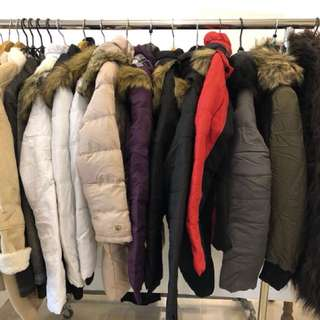 Brand new coats, stock clearance