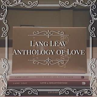 Lang Leav Anthology Of Love