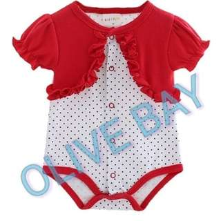 Baby Girl Pink/ Red Romper