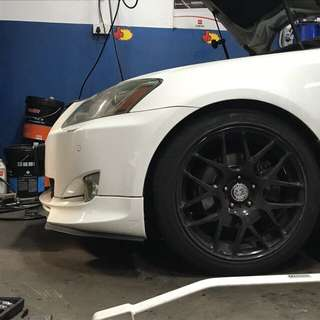 """HRE 18"""" staggered with tyres"""
