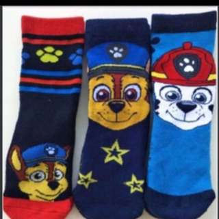 Instock Paw Patrol socks 2-5yrs old pm me for design and size