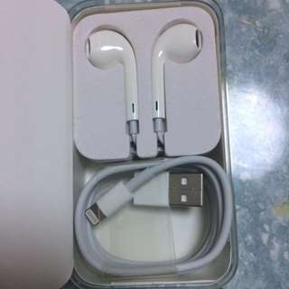 Apple EarPods & Cable for iPod nano 原裝數據線和耳機