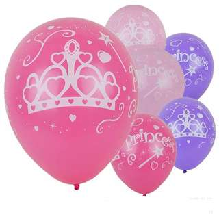 💕 Princess party supplies - princess latex balloons / birthday party baby shower deco