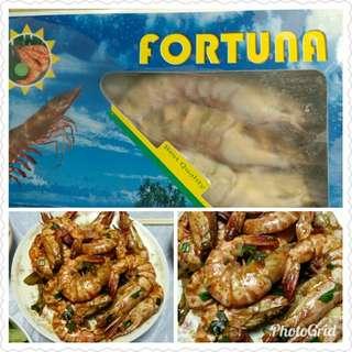 緬甸野生海虎蝦,6隻裝,每盒400克, 原價$128/盒 特惠價$98/盒