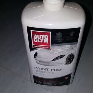 Autoglym Paint pro renovate stage 1 and refine stage 2