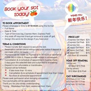 Gel Manicure & Pedicure in Sengkang