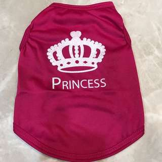 Pink Glitter Princess pets clothing