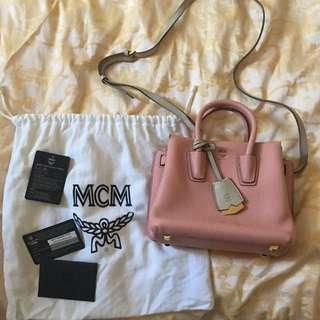 MCM pink leather bag