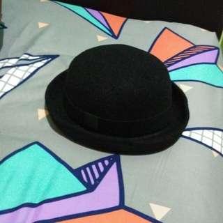 Bowler Hat / Topi Bowler / Topi Chaplin Hitam