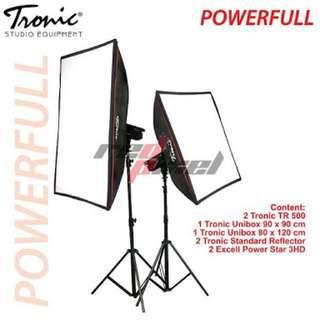 Paket lighting studio powerfull