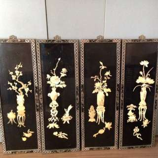 Mother of Pearl Oriental Hanging Set