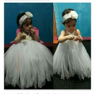 White Baptismal tutu gown