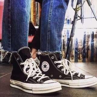 轉售胖達>Converse 1970 AllStar 奶油頭 高筒 帆布 三星標 厚底 142334C 男鞋 黑白
