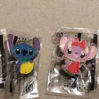 日本 迪士尼 徽章 TOKYO DISNEY PIN GAME PIN Stitch Angel 生果