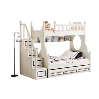 Kids detachable bunk bed