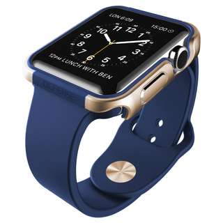 X-Doria Defense Edge for Apple Watch Case 42mm (Blue/Gold)