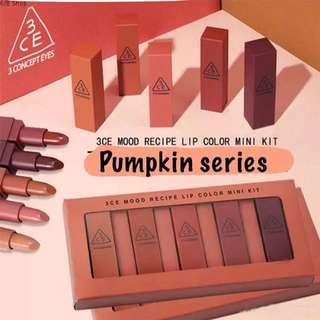 3CE Lipstick pumpkin set