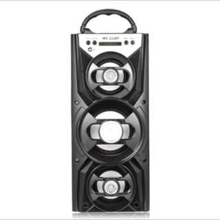 MS 222BT MS-222BT Protable Loudspeaker Portable High Power Output FM Radio AUX Wireless Bluetooth Two-channel TF Card Speaker