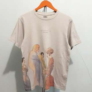 Uniqlo • watercolour Potrait T-Shirt • Size M • Rp. 85.000