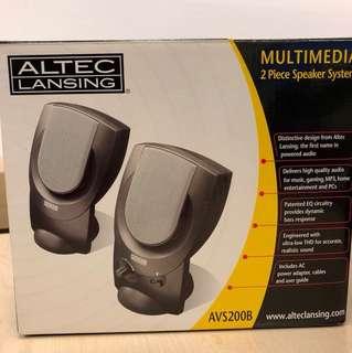 Altec Lansing 2pc speaker