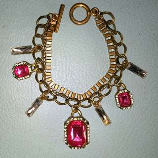 Girly Pink Boho Bracelet