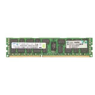 HP 500205-071 8GB (1X8GB) 1333MHZ PC3-10600 CL9 DUAL RANK ECC REGISTERED DDR3 SDRAM DIMM GENUINE HP MEMORY FOR HP PROLIANT SERVER G6/G7 SERIES