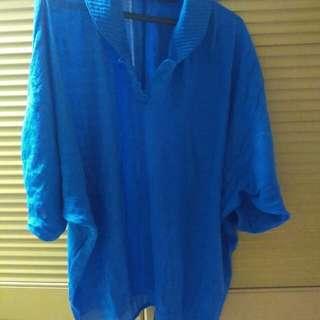 Baju biru bigsize