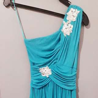 Gown. Turquoise. Small sized. Elegant fabric. 2 pcs.available.both small size