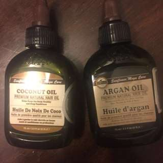 Coconut oil and Argan oil