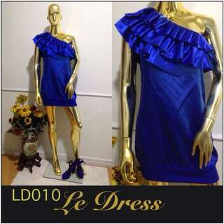 Blue one sided dress