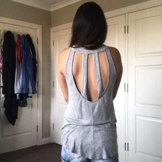 Grey Backless Singlet