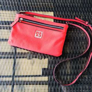 "Calvin Klein Sling Bag ""Candy Red"""