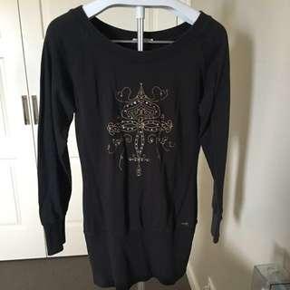 Long Sleeve Black Jumper Dress