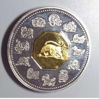 加拿大2004年 猴年 銀幣