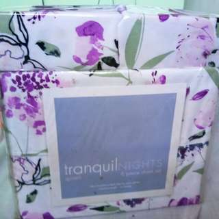 Bed sheet tranquil nights 6pcs - repriced sale sale