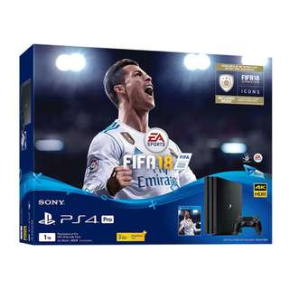 PS4 Pro 1TB Fifa 18 Bundle (Export Set)