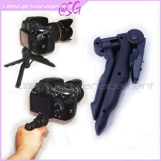 DSLR Camera Hand Held Pistol Grip Handle Tripod (Canon Nikon Olympus Pentax Panasonic Sony Leica)